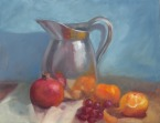 Metal Jug with Fruit 2015 - Oil on canvas - SOLD.