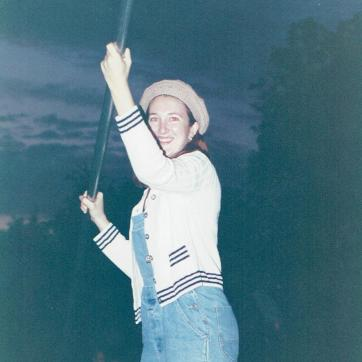 Punting in Oxford 1995.