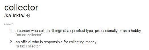 meaning of collector